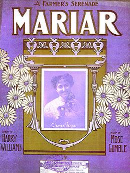 Sheet music cover for 'Mariar'