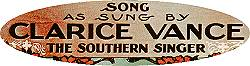Sung by Clarice Vance -- 'The Southern Singer'