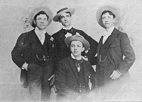 Photo. of 'Bison City Quartette' ca. 1893, courtesy of Lester Levy Collection of Sheet Music.
